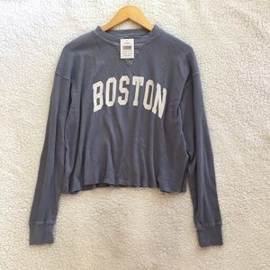 NWT Brandy Melville dusty blue Boston Laila top